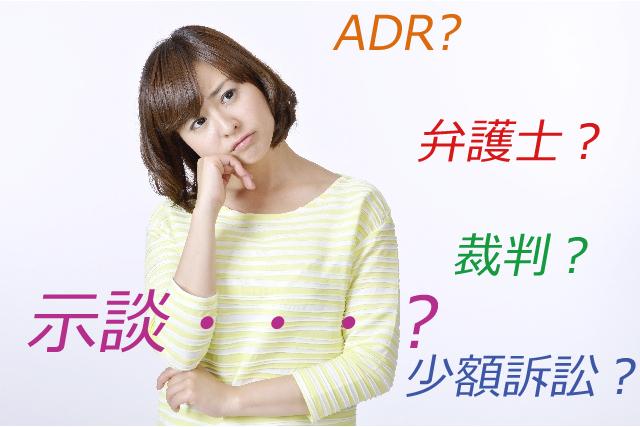 ADR裁判外紛争解決手続きと交通事故弁護士のイメージ
